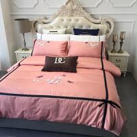 床上用品四件套全棉纯棉60支被套床单床笠款北欧风简约