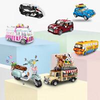 loz俐智积木拼装汽车系列小颗粒拼装积木玩具