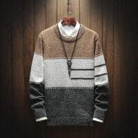秋冬季男士毛衣青少年加厚针织衫毛线衣套头圆领青少年卫衣上衣男