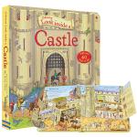 Usborne Look Inside Castle 看里面系列 城堡 斯伯恩图书 立体书早教书翻翻书 科普百科知识