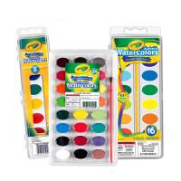 绘儿乐Crayola儿童可水洗固体水彩画颜料 幼儿初学者绘画颜料