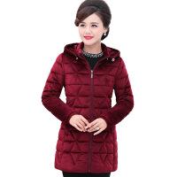 中老年女装中长款棉衣秋冬装加厚羽绒服中年妈妈装金丝绒棉袄外套
