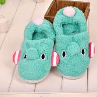 软底防滑包跟棉拖鞋孕妇鞋可爱女款秋冬季家居月子保暖鞋HJJ885
