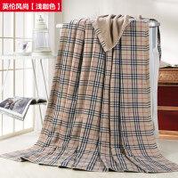 全棉纱布毛巾被单人双人加厚纯棉毛巾毯空调毛毯子休闲盖毯 220cmx220cm【2000g】