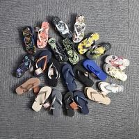 新品Havaianas人字拖 女 细带防滑坡跟6CM黑厚底人字凉拖鞋