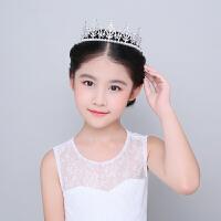 女童发饰皇冠珍珠王冠公主发箍礼服配饰儿童头饰发卡小女孩