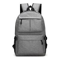双肩背包潮流学生包男士双肩包 韩版休闲帆布背包 商务潮流时尚学生书包旅行包电脑包