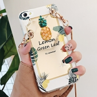 iphone6plus手机壳苹果6splus套a1593女萍果6sp新款iPnone硅胶爱疯镜面菠萝