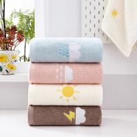 4条装 毛巾纯棉成人洗脸面巾柔软家用全棉加厚吸水