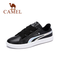 camel 骆驼女鞋 秋季新款时尚炫彩平跟板鞋单鞋百搭系带小白鞋女潮