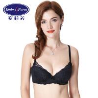 安莉芳文胸性感蕾丝薄款大胸女士调整型收副乳内衣EBW0040