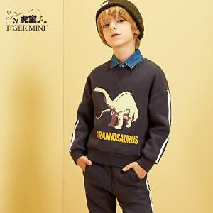 小虎宝儿童装男童套装2018新款春装休闲春秋韩版两件套5-6-7-8岁