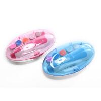 运智贝婴儿电动磨甲器盒装新生儿童静音指甲钳宝宝指甲护理套装