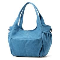 帆布包女包新款潮简约手提包单肩包斜挎包大容量旅行背包K