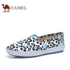骆驼牌 女鞋 布鞋女平跟休闲帆布鞋时尚涂鸦单鞋潮玛丽鞋