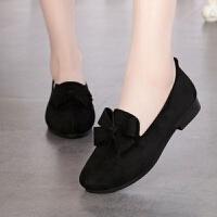 秋新款老北京布鞋女单鞋平底女士鞋子休闲豆豆鞋妈妈鞋防滑老人鞋 39 送鞋垫
