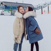 羽绒女中长款2018冬季新款棉袄韩版ins面包服chic港风外套潮