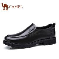 camel骆驼男鞋新品低帮鞋商务休闲舒适缓震套脚男士皮鞋