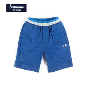 【满100减50】芙瑞诺童装男童夏装短裤休闲运动裤中小童时尚沙滩裤子