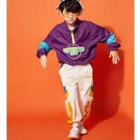 儿童街舞服装男童套装少儿hiphop秋冬装嘻哈爵士舞衣服演出服潮装
