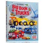英文原版 卡车大本书 Big Book of Trucks 精装 儿童认知识物 内含4个大型卡车折叠模型纸 Usbor
