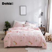 多喜爱床上四件套全棉甜美少女套件纯棉床品被套秋冬新品暖暖