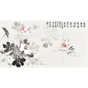 中国书画家协会会员 孔江林三尺整张花鸟画gh04476