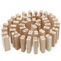 木丸子益智玩具木制积木层层叠榉木大号叠叠高亲子桌面游戏