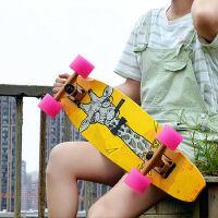 小鱼板成人大鱼板新手公路代步 单翘滑板青少年四轮滑板车