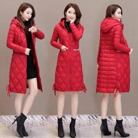 轻薄羽绒服女中长款2018新款韩版时尚宽松大码修身反季白鸭绒外套 红色 S