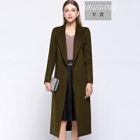 2017欧美秋冬新款女装外套西装领双面羊绒长款呢子大衣  BJ-WG-056