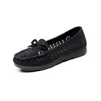 莫戈里夏季老北京布鞋女鞋平跟平底单鞋休闲工作鞋孕妇妈妈鞋豆豆鞋子女 黑色 标准码