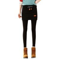 秋冬假两件女加绒打底裤裙包臀带裙修身长裤外穿连体裤