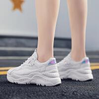 休闲鞋女鞋秋季透气小白鞋女低帮网鞋透气网面跑步鞋学生运动板鞋内增高女鞋