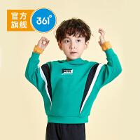 361度童装 男小童套头卫衣2021春季新小童长袖连帽衫儿童运动上衣
