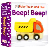 DK幼儿英语启蒙触摸纸板书 交通工具 Baby Touch and Feel Beep Beep 英文原版 英语词汇学习