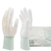 10双 PU涂层手套涂掌净化针织作业手套劳保用品无尘车间工作防护