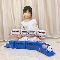 电动万向仿真托马斯火车儿童大号和谐号小火车玩具男孩4岁玩具车