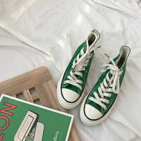高帮帆布鞋女2019新款百搭学生韩版chic鞋子1970s港风板鞋ins街拍