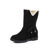 冬季新款雪地靴女短靴加厚短筒靴保暖两穿棉鞋女靴子