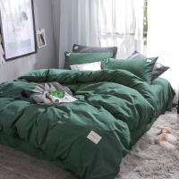 床上用品ins网红水洗棉四件套宿舍床单被套单人女三件套