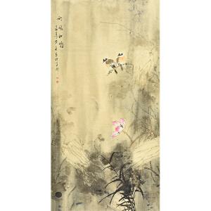 姜晓英四尺整张花鸟画gh02136