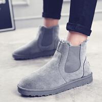 棉鞋子冬季防滑雪地靴加绒保暖百搭潮流韩版男士懒人高帮马丁靴子