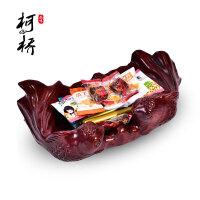 红木质实木铁花梨客厅工艺礼品摆件果盘零食水果托盘木雕摆件
