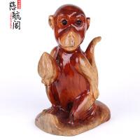 桃木木雕生肖猴摆件大号生肖猴吉祥物桃木猴摆件