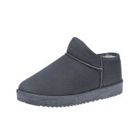 2019冬季雪地靴女简约短靴平底短筒靴子加厚加绒保暖棉靴学生棉鞋