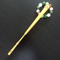白玉竹文玩折扇 折扇扇子手工白玉竹扇骨95寸18方2.0排口苏工扇面礼品收藏文玩扇