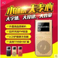 【支持礼品卡】金仕顿A2 大喇叭外放MP3音乐播放器老人收音机超长待机录音可插卡