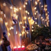 led彩灯闪灯串灯星星灯雪花圣诞树小彩灯节日装饰灯