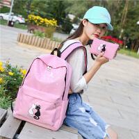 新款初中书包小学生女童书包1-3-6年级公主休闲旅行双肩包儿童背包